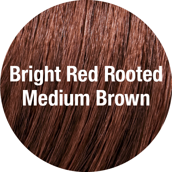 Bright Red Rooted Medium Brown