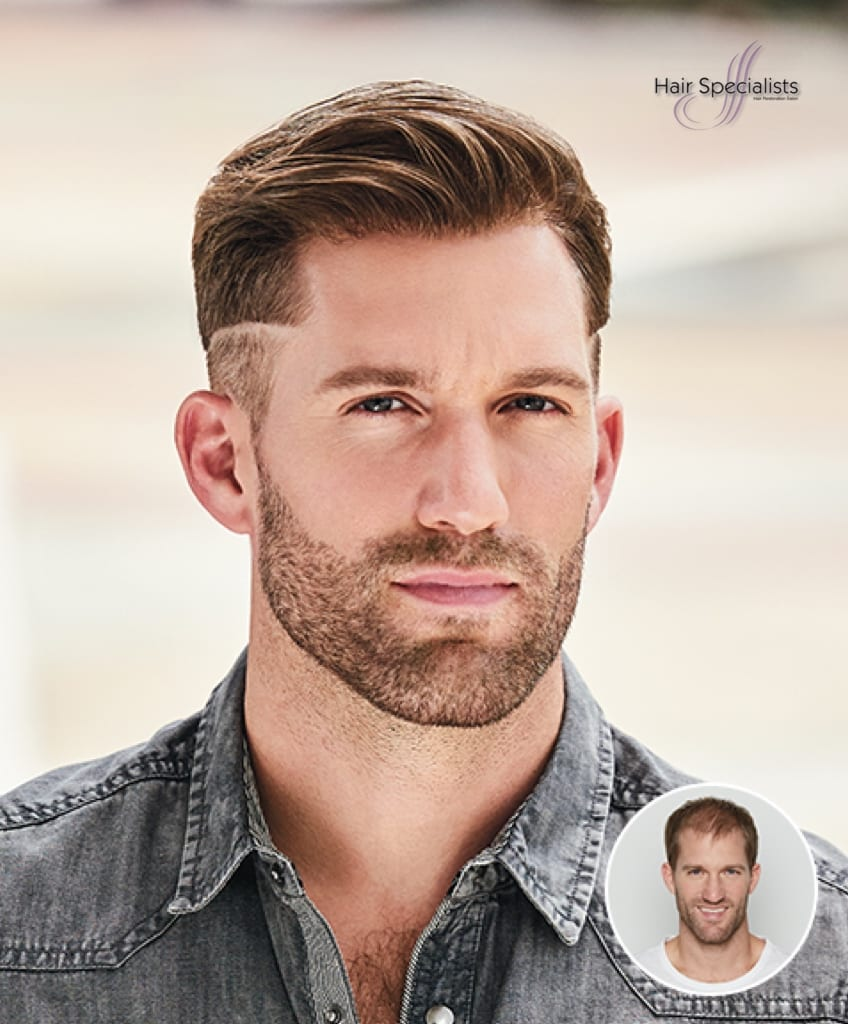 Men's Non-Surgical Hair Replacement for American Hairlines at Hair Specialist